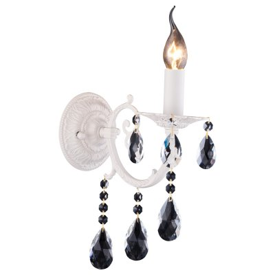 Светильник Arte lamp A2815AP-1WH AsconaКлассические<br><br><br>Тип лампы: накал-я - энергосбер-я<br>Тип цоколя: E14<br>Цвет арматуры: белый<br>Количество ламп: 1<br>Ширина, мм: 230<br>Длина, мм: 120<br>Высота, мм: 320<br>MAX мощность ламп, Вт: 60