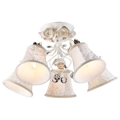 Светильник Arte lamp A2819PL-5WG BellisПотолочные<br>Компания «Светодом» предлагает широкий ассортимент люстр от известных производителей. Представленные в нашем каталоге товары выполнены из современных материалов и обладают отличным качеством. Благодаря широкому ассортименту Вы сможете найти у нас люстру под любой интерьер. Мы предлагаем как классические варианты, так и современные модели, отличающиеся лаконичностью и простотой форм.  Стильная люстра Arte lamp A2819PL-5WG станет украшением любого дома. Эта модель от известного производителя не оставит равнодушным ценителей красивых и оригинальных предметов интерьера. Люстра Arte lamp A2819PL-5WG обеспечит равномерное распределение света по всей комнате. При выборе обратите внимание на характеристики, позволяющие приобрести наиболее подходящую модель. Купить понравившуюся люстру по доступной цене Вы можете в интернет-магазине «Светодом». Мы предлагаем доставку не только по Москве и Екатеринбурге, но и по всей России.<br><br>Установка на натяжной потолок: Да<br>S освещ. до, м2: 15<br>Крепление: Планка<br>Тип лампы: накал-я - энергосбер-я<br>Тип цоколя: E14<br>Количество ламп: 5<br>MAX мощность ламп, Вт: 60<br>Диаметр, мм мм: 600<br>Высота, мм: 290<br>Цвет арматуры: белый с золотистой патиной