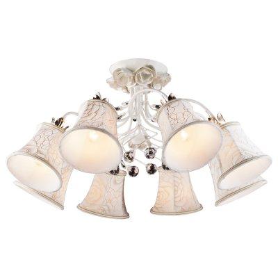 Светильник Arte lamp A2819PL-8WG BellisПотолочные<br>Компания «Светодом» предлагает широкий ассортимент люстр от известных производителей. Представленные в нашем каталоге товары выполнены из современных материалов и обладают отличным качеством. Благодаря широкому ассортименту Вы сможете найти у нас люстру под любой интерьер. Мы предлагаем как классические варианты, так и современные модели, отличающиеся лаконичностью и простотой форм. <br>Стильная люстра Arte lamp A2819PL-8WG станет украшением любого дома. Эта модель от известного производителя не оставит равнодушным ценителей красивых и оригинальных предметов интерьера. Люстра Arte lamp A2819PL-8WG обеспечит равномерное распределение света по всей комнате. При выборе обратите внимание на характеристики, позволяющие приобрести наиболее подходящую модель. <br>Купить понравившуюся люстру по доступной цене Вы можете в интернет-магазине «Светодом». Мы предлагаем доставку не только по Москве и Екатеринбурге, но и по всей России.<br><br>Установка на натяжной потолок: Да<br>S освещ. до, м2: 24<br>Крепление: Планка<br>Тип лампы: накал-я - энергосбер-я<br>Тип цоколя: E14<br>Цвет арматуры: белый с золотистой патиной<br>Количество ламп: 8<br>Диаметр, мм мм: 360<br>Высота, мм: 720<br>MAX мощность ламп, Вт: 60