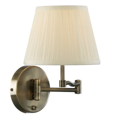 Светильник настенный Arte lamp A2872AP-1AB CaliforniaКлассика<br><br><br>S освещ. до, м2: 4<br>Тип товара: Светильник настенный бра<br>Тип лампы: накаливания / энергосбережения / LED-светодиодная<br>Тип цоколя: E27<br>Количество ламп: 1<br>Ширина, мм: 250<br>MAX мощность ламп, Вт: 60<br>Диаметр, мм мм: 420<br>Расстояние от стены, мм: 420<br>Высота, мм: 260<br>Цвет арматуры: бронзовый