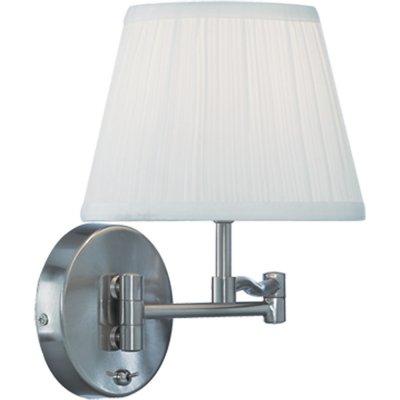 Светильник бра Arte lamp A2872AP-1SS CaliforniaКлассические<br><br><br>S освещ. до, м2: 4<br>Тип лампы: накаливания / энергосбережения / LED-светодиодная<br>Тип цоколя: E27<br>Количество ламп: 1<br>Ширина, мм: 250<br>MAX мощность ламп, Вт: 60<br>Диаметр, мм мм: 420<br>Расстояние от стены, мм: 420<br>Высота, мм: 260<br>Цвет арматуры: серый