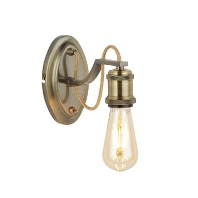 A2985AP-1AB Arte lamp СветильникЛофт<br><br><br>Тип лампы: Накаливания / энергосбережения / светодиодная<br>Тип цоколя: E27<br>Цвет арматуры: античный бронзовый<br>Количество ламп: 1<br>Диаметр, мм мм: 90<br>Размеры: 9x6.5x12<br>Длина, мм: 220<br>Высота, мм: 160<br>MAX мощность ламп, Вт: 60W<br>Общая мощность, Вт: 60W