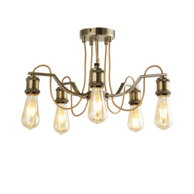 A2985PL-5AB Arte lamp СветильникПотолочные<br><br><br>S освещ. до, м2: 15<br>Тип лампы: Накаливания / энергосбережения / светодиодная<br>Тип цоколя: E27<br>Цвет арматуры: античный бронзовый<br>Количество ламп: 5<br>Диаметр, мм мм: 470<br>Размеры: diam 60<br>Длина, мм: 470<br>Высота, мм: 260<br>MAX мощность ламп, Вт: 60W<br>Общая мощность, Вт: 60W