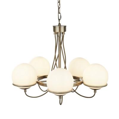 A2990LM-5AB Arte lamp СветильникПодвесные<br><br><br>S освещ. до, м2: 10<br>Крепление: крюк<br>Тип лампы: накаливания / энергосбережения / LED-светодиодная<br>Тип цоколя: E14<br>Цвет арматуры: античный бронзовый<br>Количество ламп: 5<br>Диаметр, мм мм: 580<br>Длина цепи/провода, мм: 900<br>Размеры: ?55*H46cm<br>Длина, мм: 580<br>Высота, мм: 500<br>MAX мощность ламп, Вт: 40W<br>Общая мощность, Вт: 40W
