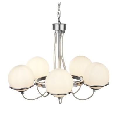 Светильник подвесной Arte lamp A2990LM-5CC BERGAMOсовременные подвесные люстры модерн<br><br><br>S освещ. до, м2: 10<br>Крепление: крюк<br>Тип лампы: накаливания / энергосбережения / LED-светодиодная<br>Тип цоколя: E14<br>Цвет арматуры: Серебристый хром<br>Количество ламп: 5<br>Диаметр, мм мм: 580<br>Длина цепи/провода, мм: 900<br>Длина, мм: 580<br>Высота, мм: 500<br>MAX мощность ламп, Вт: 40W<br>Общая мощность, Вт: 40W