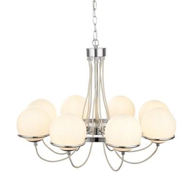 Светильник подвесной Arte lamp A2990LM-8CC BERGAMOсовременные подвесные люстры модерн<br><br><br>S освещ. до, м2: 16<br>Крепление: крюк<br>Тип лампы: накаливания / энергосбережения / LED-светодиодная<br>Тип цоколя: E14<br>Цвет арматуры: Серебристый хром<br>Количество ламп: 8<br>Диаметр, мм мм: 740<br>Длина цепи/провода, мм: 900<br>Размеры: ?70*H52cm<br>Длина, мм: 740<br>Высота, мм: 520<br>MAX мощность ламп, Вт: 40W<br>Общая мощность, Вт: 40W