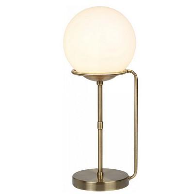 Светильник настольный Arte lamp A2990LT-1AB BERGAMOНастольные лампы хай тек<br><br><br>Тип лампы: Накаливания / энергосбережения / светодиодная<br>Тип цоколя: E27<br>Цвет арматуры: античный бронзовый<br>Количество ламп: 1<br>Диаметр, мм мм: 200<br>Размеры: ?20*H48cm<br>Длина, мм: 200<br>Высота, мм: 500<br>Поверхность арматуры: матовая<br>Оттенок (цвет): бронза<br>MAX мощность ламп, Вт: 60W<br>Общая мощность, Вт: 60W