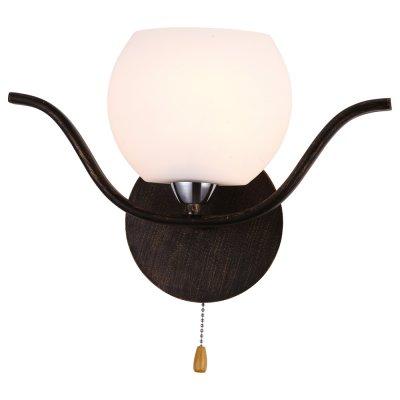 Настенный бра Arte lamp A3004AP-1BA LiverpoolМодерн<br><br><br>S освещ. до, м2: 3<br>Тип лампы: накаливания / энергосбережения / LED-светодиодная<br>Тип цоколя: E14<br>Количество ламп: 1<br>Ширина, мм: 320<br>MAX мощность ламп, Вт: 40<br>Диаметр, мм мм: 110<br>Высота, мм: 225