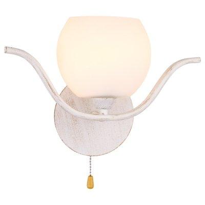 Настенный бра Arte lamp A3004AP-1WA LiverpoolСовременные<br><br><br>S освещ. до, м2: 3<br>Тип лампы: накаливания / энергосбережения / LED-светодиодная<br>Тип цоколя: E14<br>Количество ламп: 1<br>Ширина, мм: 320<br>Диаметр, мм мм: 110<br>Высота, мм: 225<br>MAX мощность ламп, Вт: 40