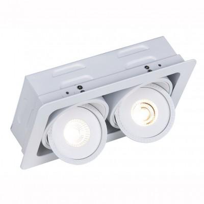 Светильник встраиваемый двойной Arte lamp A3007PL-2WH STUDIOКвадратные LED<br>Встраиваемые светильники – популярное осветительное оборудование, которое можно использовать в качестве основного источника или в дополнение к люстре. Они позволяют создать нужную атмосферу атмосферу и привнести в интерьер уют и комфорт. <br> Интернет-магазин «Светодом» предлагает стильный встраиваемый светильник ARTE Lamp A3007PL-2WH. Данная модель достаточно универсальна, поэтому подойдет практически под любой интерьер. Перед покупкой не забудьте ознакомиться с техническими параметрами, чтобы узнать тип цоколя, площадь освещения и другие важные характеристики. <br> Приобрести встраиваемый светильник ARTE Lamp A3007PL-2WH в нашем онлайн-магазине Вы можете либо с помощью «Корзины», либо по контактным номерам. Мы развозим заказы по Москве, Екатеринбургу и остальным российским городам.<br><br>Тип лампы: LED<br>Тип цоколя: LED<br>Количество ламп: 2<br>MAX мощность ламп, Вт: 7<br>Размеры: H7,8xW21,3xL12<br>Цвет арматуры: белый