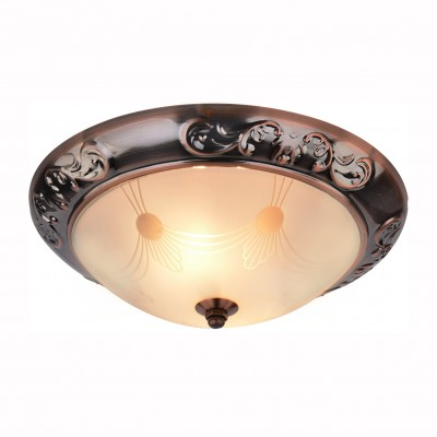 Светильник потолочный Arte lamp A3014PL-2AC ALTAПотолочные<br><br><br>Установка на натяжной потолок: Ограничено<br>S освещ. до, м2: 4<br>Крепление: Планка<br>Тип товара: Светильник потолочный<br>Тип лампы: Накаливания / энергосбережения / светодиодная<br>Тип цоколя: E27<br>Количество ламп: 2<br>MAX мощность ламп, Вт: 40<br>Размеры: H11xW28xL28<br>Цвет арматуры: медный