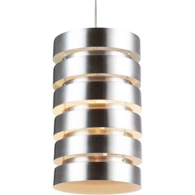Подвесной светильник Arte lamp A3017SP-1SS FettaОдиночные<br>Есть фото в интерьере данного подвесного светильника с полосами<br><br>S освещ. до, м2: 3<br>Крепление: монтажная пластина<br>Тип лампы: накаливания / энергосбережения / LED-светодиодная<br>Тип цоколя: E27<br>Количество ламп: 1<br>MAX мощность ламп, Вт: 60<br>Диаметр, мм мм: 220<br>Длина цепи/провода, мм: 680<br>Высота, мм: 400<br>Цвет арматуры: серый
