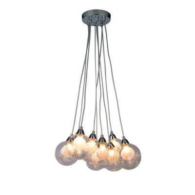 A3025SP-9CC Arte lamp СветильникПодвесные<br><br><br>Установка на натяжной потолок: Да<br>S освещ. до, м2: 18<br>Крепление: Планка<br>Тип лампы: галогенная/LED<br>Тип цоколя: G9 LED<br>Цвет арматуры: Серебристый хром<br>Количество ламп: 9<br>Диаметр, мм мм: 380<br>Длина цепи/провода, мм: 1000<br>Размеры: glass size 10-11cm<br>Длина, мм: 380<br>Высота, мм: 130<br>MAX мощность ламп, Вт: 5W<br>Общая мощность, Вт: 5W