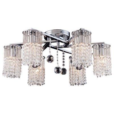 Светильник Arte lamp A3028PL-6CC CascataПотолочные<br>Компания «Светодом» предлагает широкий ассортимент люстр от известных производителей. Представленные в нашем каталоге товары выполнены из современных материалов и обладают отличным качеством. Благодаря широкому ассортименту Вы сможете найти у нас люстру под любой интерьер. Мы предлагаем как классические варианты, так и современные модели, отличающиеся лаконичностью и простотой форм.  Стильная люстра Arte lamp A3028PL-6CC станет украшением любого дома. Эта модель от известного производителя не оставит равнодушным ценителей красивых и оригинальных предметов интерьера. Люстра Arte lamp A3028PL-6CC обеспечит равномерное распределение света по всей комнате. При выборе обратите внимание на характеристики, позволяющие приобрести наиболее подходящую модель. Купить понравившуюся люстру по доступной цене Вы можете в интернет-магазине «Светодом».<br><br>Установка на натяжной потолок: Да<br>S освещ. до, м2: 18<br>Крепление: Планка<br>Тип лампы: накал-я - энергосбер-я<br>Тип цоколя: E14<br>Количество ламп: 6<br>MAX мощность ламп, Вт: 60<br>Диаметр, мм мм: 610<br>Высота, мм: 250<br>Цвет арматуры: серебристый