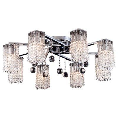 Светильник Arte lamp A3028PL-8CC CascataПотолочные<br>Компания «Светодом» предлагает широкий ассортимент люстр от известных производителей. Представленные в нашем каталоге товары выполнены из современных материалов и обладают отличным качеством. Благодаря широкому ассортименту Вы сможете найти у нас люстру под любой интерьер. Мы предлагаем как классические варианты, так и современные модели, отличающиеся лаконичностью и простотой форм.  Стильная люстра Arte lamp A3028PL-8CC станет украшением любого дома. Эта модель от известного производителя не оставит равнодушным ценителей красивых и оригинальных предметов интерьера. Люстра Arte lamp A3028PL-8CC обеспечит равномерное распределение света по всей комнате. При выборе обратите внимание на характеристики, позволяющие приобрести наиболее подходящую модель. Купить понравившуюся люстру по доступной цене Вы можете в интернет-магазине «Светодом». Мы предлагаем доставку не только по Москве и Екатеринбурге, но и по всей России.<br><br>Установка на натяжной потолок: Да<br>S освещ. до, м2: 24<br>Крепление: Планка<br>Тип лампы: накал-я - энергосбер-я<br>Тип цоколя: E14<br>Количество ламп: 8<br>MAX мощность ламп, Вт: 60<br>Диаметр, мм мм: 760<br>Высота, мм: 260<br>Цвет арматуры: серебристый