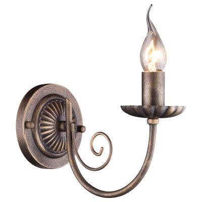 Светильник Arte lamp A3057AP-1BR DolceКованые<br><br><br>Тип лампы: накал-я - энергосбер-я<br>Тип цоколя: E14<br>Количество ламп: 1<br>Ширина, мм: 240<br>MAX мощность ламп, Вт: 60<br>Длина, мм: 120<br>Высота, мм: 180<br>Цвет арматуры: бронзовый с чернением