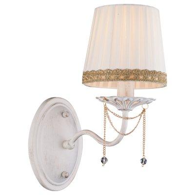 Светильник Arte lamp A3071AP-1WG SierraКлассика<br><br><br>Тип товара: Светильник настенный бра<br>Скидка, %: 8<br>Тип лампы: накал-я - энергосбер-я<br>Тип цоколя: E14<br>Количество ламп: 1<br>Ширина, мм: 270<br>MAX мощность ламп, Вт: 60<br>Длина, мм: 180<br>Высота, мм: 310<br>Цвет арматуры: белый