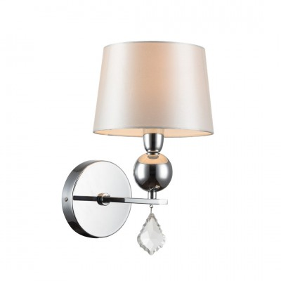 Светильник настенный бра Arte lamp A3074AP-1CC PROMESSAМодерн<br><br><br>Тип лампы: Накаливания / энергосбережения / светодиодная<br>Тип цоколя: E14<br>Количество ламп: 1<br>MAX мощность ламп, Вт: 40<br>Размеры: H32xW18xL23<br>Цвет арматуры: серебристый