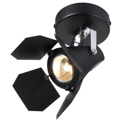 Светильник Arte lamp A3092AP-1BK CINEMAОдиночные<br>Светильники-споты – это оригинальные изделия с современным дизайном. Они позволяют не ограничивать свою фантазию при выборе освещения для интерьера. Такие модели обеспечивают достаточно качественный свет. Благодаря компактным размерам Вы можете использовать несколько спотов для одного помещения. <br>Интернет-магазин «Светодом» предлагает необычный светильник-спот ARTE Lamp A3092AP-1BK по привлекательной цене. Эта модель станет отличным дополнением к люстре, выполненной в том же стиле. Перед оформлением заказа изучите характеристики изделия. <br>Купить светильник-спот ARTE Lamp A3092AP-1BK в нашем онлайн-магазине Вы можете либо с помощью формы на сайте, либо по указанным выше телефонам. Обратите внимание, что мы предлагаем доставку не только по Москве и Екатеринбургу, но и всем остальным российским городам.<br><br>Тип лампы: галогенная/LED<br>Тип цоколя: GU10<br>Количество ламп: 1<br>Ширина, мм: 100<br>MAX мощность ламп, Вт: 50<br>Длина, мм: 170<br>Высота, мм: 130<br>Цвет арматуры: черный