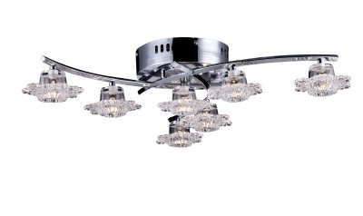 Потолочная люстра Arte lamp A3104PL-6-1CC GirandolaПотолочные<br><br><br>Установка на натяжной потолок: Ограничено<br>S освещ. до, м2: 10<br>Крепление: Планка<br>Тип товара: Люстра<br>Скидка, %: 42<br>Тип лампы: галогенная / LED-светодиодная<br>Тип цоколя: G4 + LED<br>Количество ламп: 7 и 12<br>MAX мощность ламп, Вт: 20 и 0.05<br>Диаметр, мм мм: 630<br>Высота, мм: 150<br>Оттенок (цвет): Прозрачный<br>Цвет арматуры: серебристый