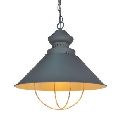A3129SP-1GY Arte lamp СветильникОдиночные<br><br><br>Крепление: крюк<br>Тип цоколя: E27<br>Количество ламп: 1<br>MAX мощность ламп, Вт: 60W<br>Размеры: ?340X140<br>Цвет арматуры: СЕРЫЙ<br>Общая мощность, Вт: 60W