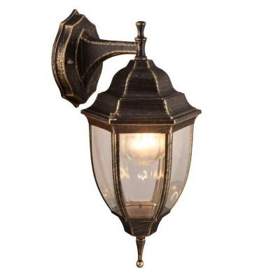 Светильник уличный Arte lamp A3152AL-1BN PEGASUSНастенные<br>Обеспечение качественного уличного освещения – важная задача для владельцев коттеджей. Компания «Светодом» предлагает современные светильники, которые порадуют Вас отличным исполнением. В нашем каталоге представлена продукция известных производителей, пользующихся популярностью благодаря высокому качеству выпускаемых товаров.   Уличный светильник Arte lamp A3152AL-1BN не просто обеспечит качественное освещение, но и станет украшением Вашего участка. Модель выполнена из современных материалов и имеет влагозащитный корпус, благодаря которому ей не страшны осадки.   Купить уличный светильник Arte lamp A3152AL-1BN, представленный в нашем каталоге, можно с помощью онлайн-формы для заказа. Чтобы задать имеющиеся вопросы, звоните нам по указанным телефонам. Мы доставим Ваш заказ не только в Москву и Екатеринбург, но и другие города.<br><br>Тип лампы: Накаливания / энергосбережения / светодиодная<br>Тип цоколя: E27<br>Количество ламп: 1<br>MAX мощность ламп, Вт: 60<br>Размеры: H36xW16xL18<br>Цвет арматуры: золотой