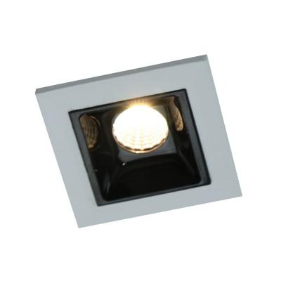 Светильник Arte lamp A3153PL-1BKКарданные светильники<br><br><br>Тип лампы: LED - светодиодная<br>Тип цоколя: LED, встроенные светодиоды<br>Цвет арматуры: черный/серебристый<br>Количество ламп: 1<br>Ширина, мм: 45<br>Диаметр врезного отверстия, мм: 40 х 40<br>Длина, мм: 45<br>Поверхность арматуры: матовая<br>Оттенок (цвет): серебристый<br>Общая мощность, Вт: 3