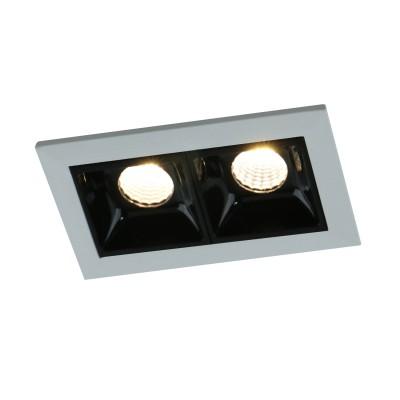 Светильник Arte lamp A3153PL-2BKКарданные светильники<br><br><br>Тип лампы: LED - светодиодная<br>Тип цоколя: LED, встроенные светодиоды<br>Цвет арматуры: черный/серебристый<br>Количество ламп: 2<br>Ширина, мм: 34.6<br>Диаметр врезного отверстия, мм: 70 х 40<br>Длина, мм: 74.5<br>Поверхность арматуры: матовая<br>Оттенок (цвет): серебристый<br>Общая мощность, Вт: 6