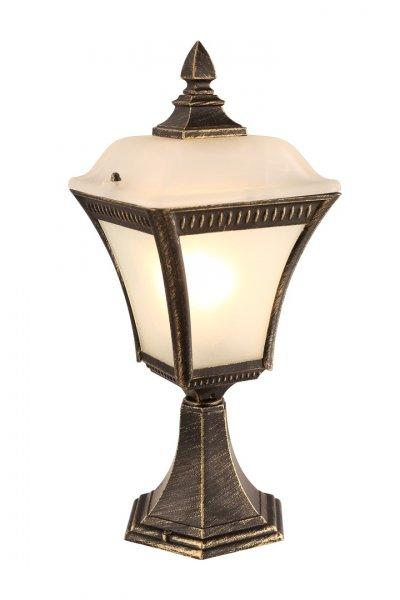 Светильник уличный Arte lamp A3161FN-1BN MEMPHISФонари на столб<br>Обеспечение качественного уличного освещения – важная задача для владельцев коттеджей. Компания «Светодом» предлагает современные светильники, которые порадуют Вас отличным исполнением. В нашем каталоге представлена продукция известных производителей, пользующихся популярностью благодаря высокому качеству выпускаемых товаров.   Уличный светильник Arte lamp A3161FN-1BN не просто обеспечит качественное освещение, но и станет украшением Вашего участка. Модель выполнена из современных материалов и имеет влагозащитный корпус, благодаря которому ей не страшны осадки.   Купить уличный светильник Arte lamp A3161FN-1BN, представленный в нашем каталоге, можно с помощью онлайн-формы для заказа. Чтобы задать имеющиеся вопросы, звоните нам по указанным телефонам.<br><br>Тип лампы: Накаливания / энергосбережения / светодиодная<br>Тип цоколя: E27<br>Количество ламп: 1<br>MAX мощность ламп, Вт: 60<br>Размеры: H42,5xW18xL18<br>Цвет арматуры: золотой
