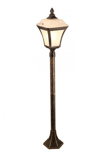 Светильник уличный Arte lamp A3161PA-1BN MEMPHISОдиночные столбы<br>Обеспечение качественного уличного освещения – важная задача для владельцев коттеджей. Компания «Светодом» предлагает современные светильники, которые порадуют Вас отличным исполнением. В нашем каталоге представлена продукция известных производителей, пользующихся популярностью благодаря высокому качеству выпускаемых товаров.   Уличный светильник Arte lamp A3161PA-1BN не просто обеспечит качественное освещение, но и станет украшением Вашего участка. Модель выполнена из современных материалов и имеет влагозащитный корпус, благодаря которому ей не страшны осадки.   Купить уличный светильник Arte lamp A3161PA-1BN, представленный в нашем каталоге, можно с помощью онлайн-формы для заказа. Чтобы задать имеющиеся вопросы, звоните нам по указанным телефонам.<br><br>Тип лампы: Накаливания / энергосбережения / светодиодная<br>Тип цоколя: E27<br>Цвет арматуры: золотой<br>Количество ламп: 1<br>Размеры: H110xW18xL18<br>MAX мощность ламп, Вт: 60