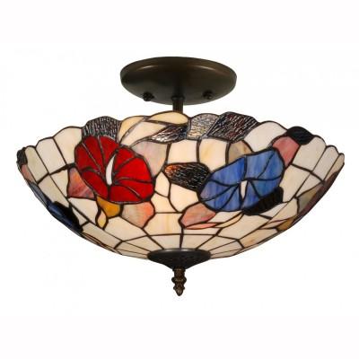 Светильник тиффани Arte lamp A3165PL-2BG FlorizelПотолочные<br>Компания «Светодом» предлагает широкий ассортимент люстр от известных производителей. Представленные в нашем каталоге товары выполнены из современных материалов и обладают отличным качеством. Благодаря широкому ассортименту Вы сможете найти у нас люстру под любой интерьер. Мы предлагаем как классические варианты, так и современные модели, отличающиеся лаконичностью и простотой форм. <br>Стильная люстра Arte lamp A3165PL-2BG станет украшением любого дома. Эта модель от известного производителя не оставит равнодушным ценителей красивых и оригинальных предметов интерьера. Люстра Arte lamp A3165PL-2BG обеспечит равномерное распределение света по всей комнате. При выборе обратите внимание на характеристики, позволяющие приобрести наиболее подходящую модель. <br>Купить понравившуюся люстру по доступной цене Вы можете в интернет-магазине «Светодом».<br><br>Установка на натяжной потолок: Да<br>S освещ. до, м2: 8<br>Крепление: Планка<br>Тип лампы: накаливания / энергосбережения / LED-светодиодная<br>Тип цоколя: E27<br>Количество ламп: 2<br>Ширина, мм: 400<br>MAX мощность ламп, Вт: 60<br>Диаметр, мм мм: 400<br>Высота, мм: 260<br>Цвет арматуры: состаренный медный