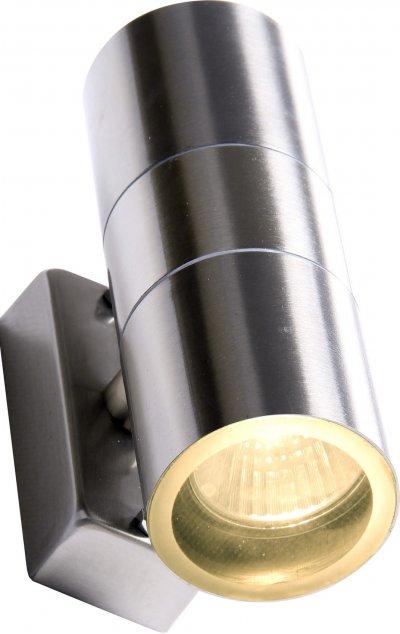 Светильник Arte lamp A3202AL-2SS MISTEROНастенные<br>Обеспечение качественного уличного освещения – важная задача для владельцев коттеджей. Компания «Светодом» предлагает современные светильники, которые порадуют Вас отличным исполнением. В нашем каталоге представлена продукция известных производителей, пользующихся популярностью благодаря высокому качеству выпускаемых товаров. <br> Уличный светильник Arte lamp A3202AL-2SS не просто обеспечит качественное освещение, но и станет украшением Вашего участка. Модель выполнена из современных материалов и имеет влагозащитный корпус, благодаря которому ей не страшны осадки. <br> Купить уличный светильник Arte lamp A3202AL-2SS, представленный в нашем каталоге, можно с помощью онлайн-формы для заказа. Чтобы задать имеющиеся вопросы, звоните нам по указанным телефонам.<br><br>Тип лампы: галогенная/LED<br>Тип цоколя: GU10<br>Количество ламп: 2<br>MAX мощность ламп, Вт: 35<br>Размеры: H16,1xW6xL9,5<br>Цвет арматуры: серебристый
