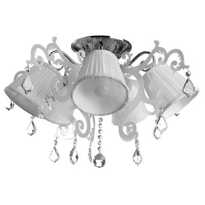 Светильник потолочный Arte lamp A3207PL-5CC PROMESSAПотолочные<br>Компания «Светодом» предлагает широкий ассортимент люстр от известных производителей. Представленные в нашем каталоге товары выполнены из современных материалов и обладают отличным качеством. Благодаря широкому ассортименту Вы сможете найти у нас люстру под любой интерьер. Мы предлагаем как классические варианты, так и современные модели, отличающиеся лаконичностью и простотой форм.  Стильная люстра Arte lamp A3207PL-5CC станет украшением любого дома. Эта модель от известного производителя не оставит равнодушным ценителей красивых и оригинальных предметов интерьера. Люстра Arte lamp A3207PL-5CC обеспечит равномерное распределение света по всей комнате. При выборе обратите внимание на характеристики, позволяющие приобрести наиболее подходящую модель. Купить понравившуюся люстру по доступной цене Вы можете в интернет-магазине «Светодом».<br><br>Установка на натяжной потолок: Да<br>S освещ. до, м2: 10<br>Крепление: Планка<br>Тип лампы: Накаливания / энергосбережения / светодиодная<br>Тип цоколя: E14<br>Цвет арматуры: серебристый<br>Количество ламп: 5<br>Диаметр, мм мм: 620<br>Размеры: H43xW62xL62<br>Высота, мм: 430<br>MAX мощность ламп, Вт: 40