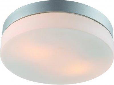 Светильник потолочный Arte lamp A3211PL-2SI AQUAКруглые<br>Настенно-потолочные светильники – это универсальные осветительные варианты, которые подходят для вертикального и горизонтального монтажа. В интернет-магазине «Светодом» Вы можете приобрести подобные модели по выгодной стоимости. В нашем каталоге представлены как бюджетные варианты, так и эксклюзивные изделия от производителей, которые уже давно заслужили доверие дизайнеров и простых покупателей.  Настенно-потолочный светильник ARTELamp A3211PL-2SI станет прекрасным дополнением к основному освещению. Благодаря качественному исполнению и применению современных технологий при производстве эта модель будет радовать Вас своим привлекательным внешним видом долгое время. Приобрести настенно-потолочный светильник ARTELamp A3211PL-2SI можно, находясь в любой точке России.<br><br>S освещ. до, м2: 6<br>Тип лампы: Накаливания / энергосбережения / светодиодная<br>Тип цоколя: E27<br>Цвет арматуры: серебристый<br>Количество ламп: 2<br>Размеры: H8xW24xL24<br>MAX мощность ламп, Вт: 60