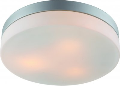 Светильник потолочный Arte lamp A3211PL-3SI AQUAКруглые<br>Настенно-потолочные светильники – это универсальные осветительные варианты, которые подходят для вертикального и горизонтального монтажа. В интернет-магазине «Светодом» Вы можете приобрести подобные модели по выгодной стоимости. В нашем каталоге представлены как бюджетные варианты, так и эксклюзивные изделия от производителей, которые уже давно заслужили доверие дизайнеров и простых покупателей.  Настенно-потолочный светильник ARTELamp A3211PL-3SI станет прекрасным дополнением к основному освещению. Благодаря качественному исполнению и применению современных технологий при производстве эта модель будет радовать Вас своим привлекательным внешним видом долгое время. Приобрести настенно-потолочный светильник ARTELamp A3211PL-3SI можно, находясь в любой точке России.<br><br>S освещ. до, м2: 9<br>Тип лампы: Накаливания / энергосбережения / светодиодная<br>Тип цоколя: E27<br>Цвет арматуры: серебристый<br>Количество ламп: 3<br>Размеры: H8xW30xL30<br>MAX мощность ламп, Вт: 60