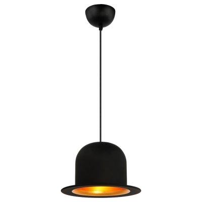 Светильник Arte lamp A3234SP-1BK шляпа CAPPELLOПодвесные<br>Компания «Светодом» предлагает широкий ассортимент люстр от известных производителей. Представленные в нашем каталоге товары выполнены из современных материалов и обладают отличным качеством. Благодаря широкому ассортименту Вы сможете найти у нас люстру под любой интерьер. Мы предлагаем как классические варианты, так и современные модели, отличающиеся лаконичностью и простотой форм.  Стильная люстра Arte lamp A3234SP-1BK станет украшением любого дома. Эта модель от известного производителя не оставит равнодушным ценителей красивых и оригинальных предметов интерьера. Люстра Arte lamp A3234SP-1BK обеспечит равномерное распределение света по всей комнате. При выборе обратите внимание на характеристики, позволяющие приобрести наиболее подходящую модель.  Купить понравившуюся люстру по доступной цене Вы можете в интернет-магазине «Светодом».<br><br>Установка на натяжной потолок: Ограничено<br>S освещ. до, м2: 1<br>Крепление: Крюк<br>Тип лампы: Накаливания / энергосбережения / светодиодная<br>Тип цоколя: E27<br>Количество ламп: 1<br>MAX мощность ламп, Вт: 40<br>Диаметр, мм мм: 250<br>Высота, мм: 190<br>Цвет арматуры: черный