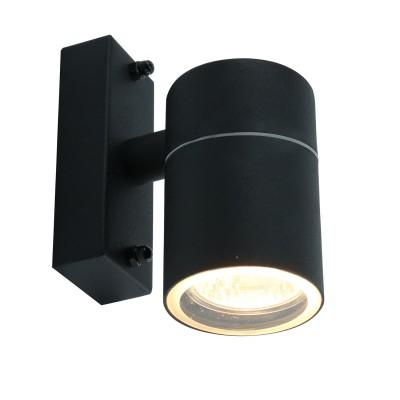 A3302AL-1BK Arte lamp СветильникНастенные<br><br><br>Тип лампы: галогенная/LED<br>Тип цоколя: GU10<br>Цвет арматуры: ЧЕРНЫЙ<br>Количество ламп: 1<br>Диаметр, мм мм: 60<br>Размеры: 13*10*6<br>Длина, мм: 110<br>Высота, мм: 130<br>MAX мощность ламп, Вт: 50W<br>Общая мощность, Вт: 50W