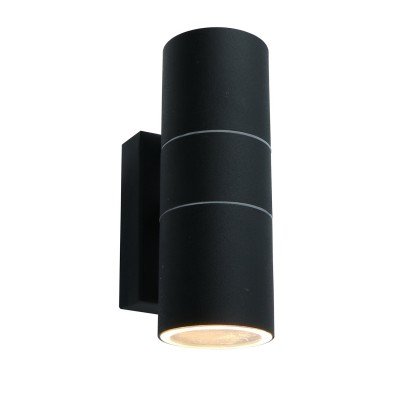 A3302AL-2BK Arte lamp СветильникНастенные<br><br><br>Тип лампы: галогенная/LED<br>Тип цоколя: GU10<br>Цвет арматуры: ЧЕРНЫЙ<br>Количество ламп: 2<br>Диаметр, мм мм: 60<br>Размеры: 16*10*6<br>Длина, мм: 110<br>Высота, мм: 170<br>MAX мощность ламп, Вт: 50W<br>Общая мощность, Вт: 50W