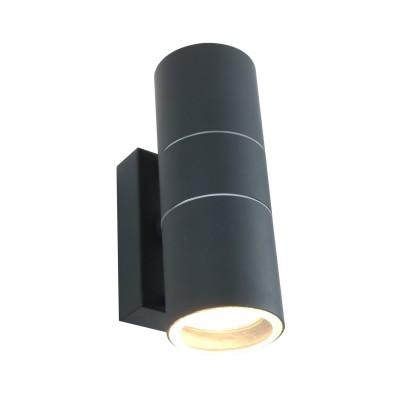 A3302AL-2GY Arte lamp СветильникНастенные<br><br><br>Тип лампы: галогенная/LED<br>Тип цоколя: GU10<br>Цвет арматуры: СЕРЫЙ<br>Количество ламп: 2<br>Диаметр, мм мм: 60<br>Размеры: 16*10*6<br>Длина, мм: 110<br>Высота, мм: 170<br>MAX мощность ламп, Вт: 50W<br>Общая мощность, Вт: 50W