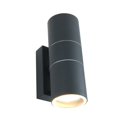 Светильник уличный Arte lamp A3302AL-2GY SonaglioУличные настенные светильники<br><br><br>Тип лампы: галогенная/LED<br>Тип цоколя: GU10<br>Цвет арматуры: СЕРЫЙ<br>Количество ламп: 2<br>Диаметр, мм мм: 60<br>Размеры: 16*10*6<br>Длина, мм: 110<br>Высота, мм: 170<br>MAX мощность ламп, Вт: 50W<br>Общая мощность, Вт: 50W