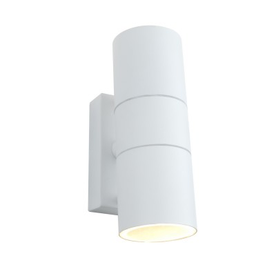 A3302AL-2WH Arte lamp СветильникНастенные<br><br><br>Тип лампы: галогенная/LED<br>Тип цоколя: GU10<br>Цвет арматуры: БЕЛЫЙ<br>Количество ламп: 2<br>Диаметр, мм мм: 60<br>Размеры: 16*10*6<br>Длина, мм: 110<br>Высота, мм: 170<br>MAX мощность ламп, Вт: 50W<br>Общая мощность, Вт: 50W