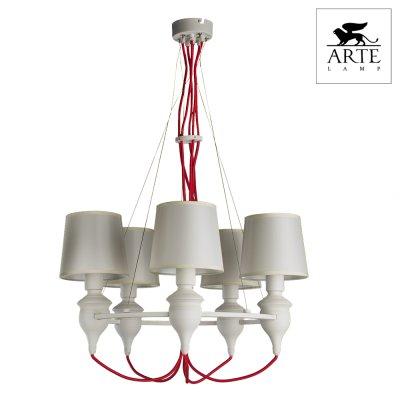 Светильник Arte lamp a3325lm-5wh SergioПодвесные<br>Компания «Светодом» предлагает широкий ассортимент люстр от известных производителей. Представленные в нашем каталоге товары выполнены из современных материалов и обладают отличным качеством. Благодаря широкому ассортименту Вы сможете найти у нас люстру под любой интерьер. Мы предлагаем как классические варианты, так и современные модели, отличающиеся лаконичностью и простотой форм.  Стильная люстра Arte lamp A3325LM-5WH станет украшением любого дома. Эта модель от известного производителя не оставит равнодушным ценителей красивых и оригинальных предметов интерьера. Люстра Arte lamp A3325LM-5WH обеспечит равномерное распределение света по всей комнате. При выборе обратите внимание на характеристики, позволяющие приобрести наиболее подходящую модель. Купить понравившуюся люстру по доступной цене Вы можете в интернет-магазине «Светодом».<br><br>Установка на натяжной потолок: Да<br>S освещ. до, м2: 10<br>Крепление: Планка<br>Тип лампы: Накаливания / энергосбережения / светодиодная<br>Тип цоколя: E14<br>Количество ламп: 5<br>MAX мощность ламп, Вт: 40<br>Диаметр, мм мм: 600<br>Высота, мм: 900<br>Цвет арматуры: белый