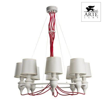 Светильник Arte lamp a3325lm-8wh SergioПодвесные<br>Компания «Светодом» предлагает широкий ассортимент люстр от известных производителей. Представленные в нашем каталоге товары выполнены из современных материалов и обладают отличным качеством. Благодаря широкому ассортименту Вы сможете найти у нас люстру под любой интерьер. Мы предлагаем как классические варианты, так и современные модели, отличающиеся лаконичностью и простотой форм.   Стильная люстра Arte lamp A3325LM-8WH станет украшением любого дома. Эта модель от известного производителя не оставит равнодушным ценителей красивых и оригинальных предметов интерьера. Люстра Arte lamp A3325LM-8WH обеспечит равномерное распределение света по всей комнате. При выборе обратите внимание на характеристики, позволяющие приобрести наиболее подходящую модель.   Купить понравившуюся люстру по доступной цене Вы можете в интернет-магазине «Светодом».<br><br>Установка на натяжной потолок: Да<br>S освещ. до, м2: 16<br>Крепление: Планка<br>Тип лампы: Накаливания / энергосбережения / светодиодная<br>Тип цоколя: E14<br>Количество ламп: 8<br>MAX мощность ламп, Вт: 40<br>Диаметр, мм мм: 810<br>Высота, мм: 1000<br>Цвет арматуры: белый