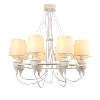 Светильник подвесной Arte lamp A3326LM-8WH Sergioлюстры подвесные классические<br><br><br>Установка на натяжной потолок: Да<br>S освещ. до, м2: 16<br>Крепление: Планка<br>Тип лампы: Накаливания / энергосбережения / светодиодная<br>Тип цоколя: E14<br>Цвет арматуры: БЕЛЫЙ<br>Количество ламп: 8<br>Диаметр, мм мм: 810<br>Размеры: ?91*H100<br>Длина, мм: 810<br>Высота, мм: 950<br>MAX мощность ламп, Вт: 40W<br>Общая мощность, Вт: 40W