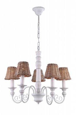 Подвесная люстра Arte lamp A3400LM-5BR VillaggioПодвесные<br><br><br>Установка на натяжной потолок: Да<br>S освещ. до, м2: 6<br>Крепление: Крюк<br>Тип товара: Люстра подвесная<br>Скидка, %: 41<br>Тип лампы: накаливания / энергосбережения / LED-светодиодная<br>Тип цоколя: E14<br>Количество ламп: 5<br>MAX мощность ламп, Вт: 25<br>Диаметр, мм мм: 640<br>Длина цепи/провода, мм: 940<br>Высота, мм: 480<br>Оттенок (цвет): коричневый<br>Цвет арматуры: коричневый