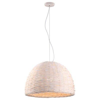Светильник Arte lamp A3400SP-3WH VillaggioИз ротанга и eco<br><br><br>Установка на натяжной потолок: Да<br>S освещ. до, м2: 6<br>Крепление: Планка<br>Тип товара: Светильник<br>Тип лампы: Накаливания / энергосбережения / светодиодная<br>Тип цоколя: E27<br>Количество ламп: 3<br>MAX мощность ламп, Вт: 40<br>Диаметр, мм мм: 570<br>Высота, мм: 380<br>Цвет арматуры: белый
