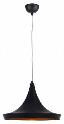 Светильник Arte lamp A3406SP-1BK CappelloОдиночные<br><br><br>Тип товара: Светильник подвесной<br>Тип лампы: накаливания / энергосбережения / LED-светодиодная<br>Тип цоколя: E27<br>MAX мощность ламп, Вт: 40<br>Диаметр, мм мм: 360<br>Высота, мм: 190 - 1000<br>Цвет арматуры: черный