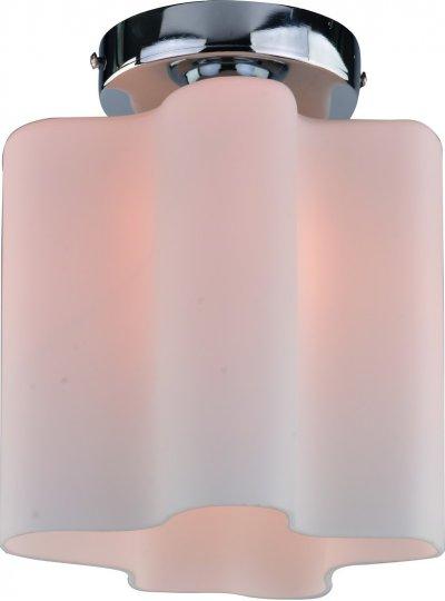 Светильник потолочный Arte lamp A3479PL-1CC SERENATAДекоративные<br><br><br>S освещ. до, м2: 1<br>Тип товара: Светильник потолочный<br>Тип лампы: Накаливания / энергосбережения / светодиодная<br>Тип цоколя: E27<br>Количество ламп: 1<br>MAX мощность ламп, Вт: 40<br>Размеры: H25xW20xL20<br>Цвет арматуры: серебристый