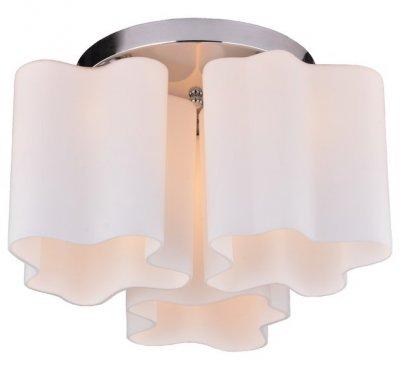 Светильник потолочный Arte lamp A3479PL-3CC SERENATAПотолочные<br><br><br>Установка на натяжной потолок: Ограничено<br>S освещ. до, м2: 6<br>Крепление: Планка<br>Тип товара: Светильник потолочный<br>Тип лампы: Накаливания / энергосбережения / светодиодная<br>Тип цоколя: E27<br>Количество ламп: 3<br>MAX мощность ламп, Вт: 40<br>Размеры: H27xW42xL42<br>Цвет арматуры: серебристый