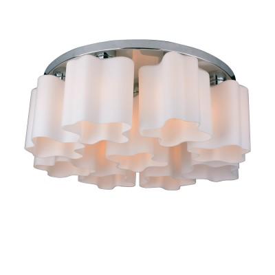 A3479PL-9CC Arte lamp Люстра белаяПотолочные<br><br><br>Установка на натяжной потолок: Да<br>S освещ. до, м2: 18<br>Тип цоколя: E27<br>Количество ламп: 9<br>MAX мощность ламп, Вт: 40W<br>Диаметр, мм мм: 650<br>Размеры: D650*H250<br>Длина, мм: 650<br>Высота, мм: 250<br>Цвет арматуры: Серебристый хром<br>Общая мощность, Вт: 40W